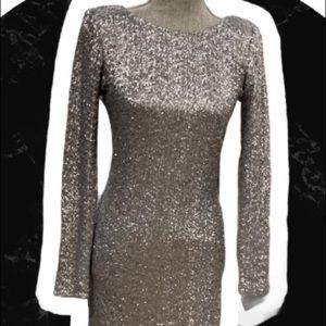 NWT Tristan Silver Sequence Dress Sz M